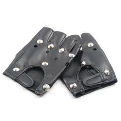 MyXL IMC SODIAL (R) BLACK LEATHER LOOK VINGERLOZE HANDSCHOENEN FANCY