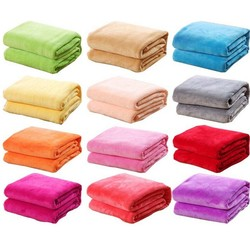 MyXL 1 STKS Bed Deken Fleece Dekens Voor Bed Gooi Deken Machine Wasbaar Thuis Textiel Effen willekeurige Kleur 50 cm * 70 cm