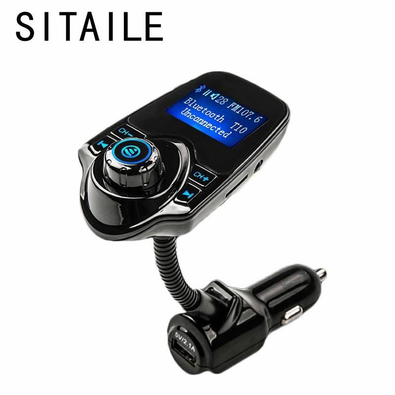 SITAILE Bluetooth Fm-zender Mp3-speler Audio Modulator usb-wisselaar Auto Kit Deel LED Display Auto-