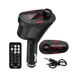 MyXL Autoradio Car Kit Mp3-speler Draadloze Fm-zender Modulator met USB/SD/Kaartlezer Mmc-sleuf en Afstandsbediening Auto Stereo