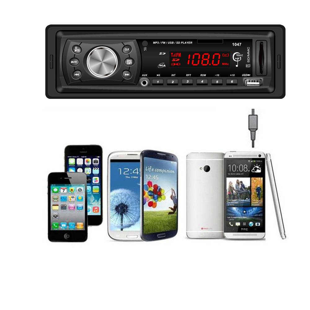 AUTOStereo Hoofd Auto AUX Ingang LCD Audio Stereo In-Dash Auto Radio Mp3-speler FM Aux Ingang Ontvan