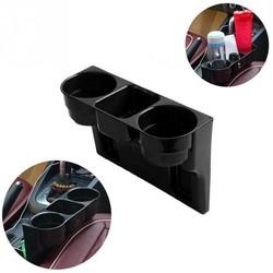 MyXL Universele Zwarte 2 Bekerhouder Drank Seat Naad wedge Auto Auto Truck Mount