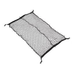 MyXL 100 cm x 70 cm Zwart Nylon Kofferbak Netto Bagage Organizer Achterlichten Mesh Netwerk Met 4 haken