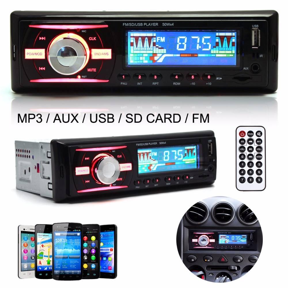 4 Kanaals Auto Audio Stereo In-Dash 1 DIN 12 V Auto Radio Mp3-speler Ondersteuning FM UPS WMA INP AU