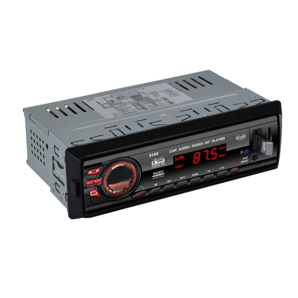 8288 Bluetooth 1 DIN Auto Audio FM Radio Stereo Digitale Media AUX-IN Mp3-speler Ontvanger SD MMC US