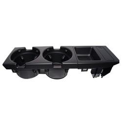 MyXL Dubbele gat auto front center console cup rack/verandering box voor BMW E46: zwart
