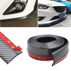 MyXL 2.5 M Koolstofvezel Auto Styling Strips Sticker Body Kit Wrap Protector Protcetion Voorbumper Krassen Guard Lip Rubber Clips