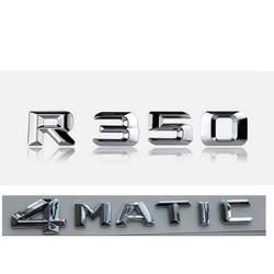 """MyXL Chrome """"R 350 4 MATIC"""" Kofferbak Achter Letters Woorden Badge Embleem Brief Decal Sticker voor Mercedes Benz R Klasse R350"""