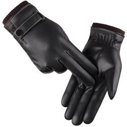 MyXL Heren Handschoenen Winter Wanten Warm Houden Touchscreen Winddicht Rijden HandschoenenMannelijke Herfst Winter Guantes Zwart Lederen Handschoenen