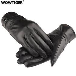 MyXL WOWTIGERLederen winter guantes warme schapenvacht Handschoenen mannen Lederen handschoenen eenvoudige voorkomen koude Handschoenen voor mannen