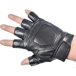 MyXL Kuyomens mannen vingerloze handschoenen pols half vinger handschoen unisex volwassen vingerloze wanten echt lederen