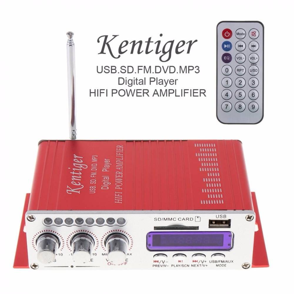 Kentiger HY-502 DC12V 5A 2CH HI-FI Digitale Audio Speler Auto Versterker FM Radio Stereo Speler Onde
