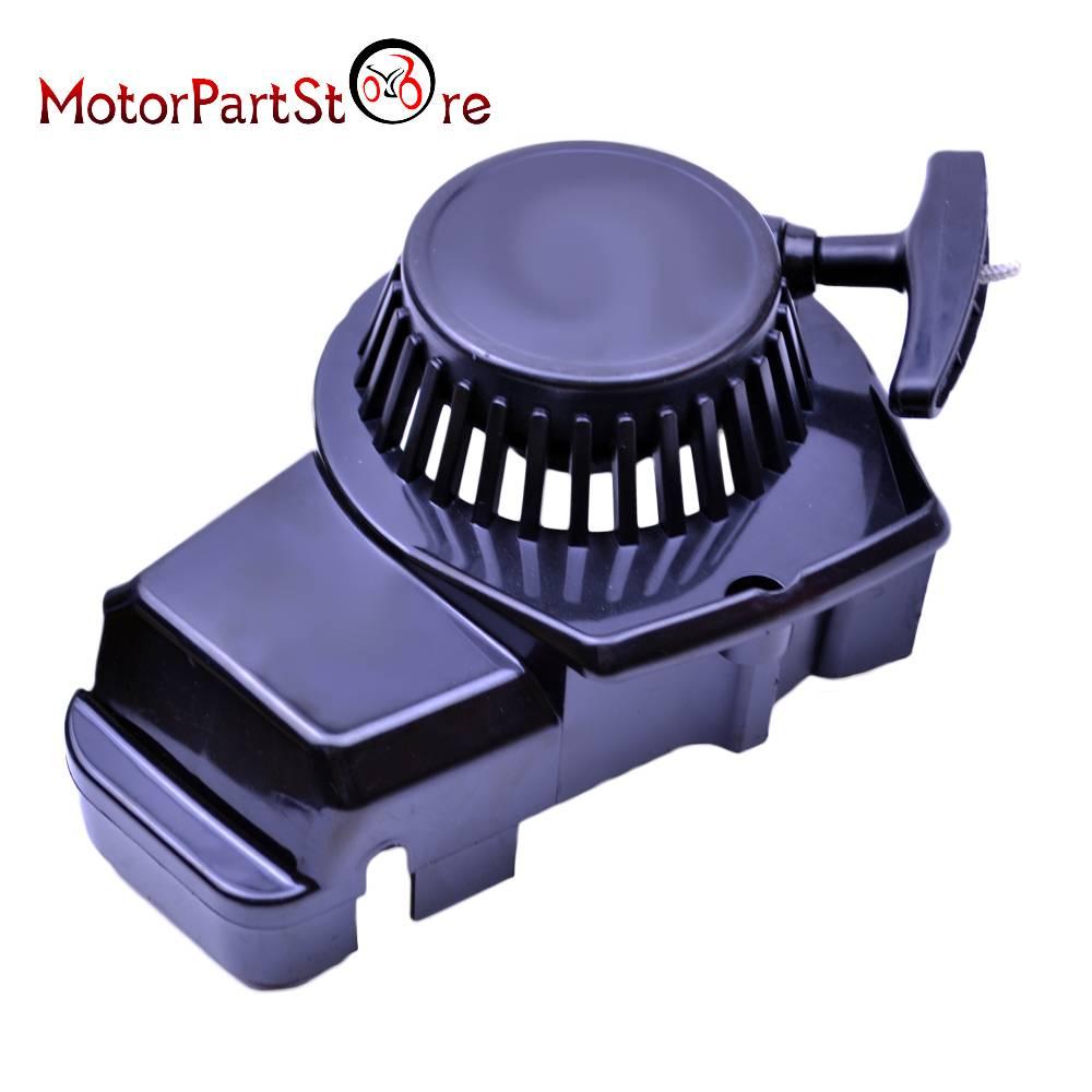 Zwart Plastic Gemakkelijk Pull Start Repeteerstarter Voor 47 49cc 2 Takt Pocket Bike Minimoto Vuil Kid Crosser Quad ATV