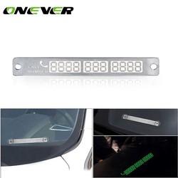 MyXL Onever Auto Styling Lichtgevende Tijdelijke Parking Stop Teken Noctilucous Telefoonnummer Plaat Auto Parking Teken Voorlopige Card
