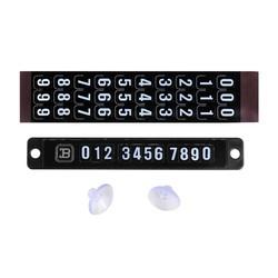 MyXL Onever Auto Tijdelijke Parkeren Telefoonnummer Card Magnetische Puzzel Stop Parking Teken Telefoonnummer Plaat Voorruit Sticker