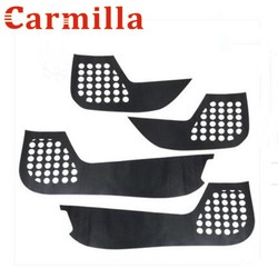 MyXL Carmilla Koolstofvezel Protector Film Innerlijke Bescherming Deur Stickers Case voor Kia Sportage Kx5 KX 5 QL 2016Auto Sticker