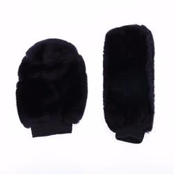 MyXL VODOOL 2 pcsCar Accessoire Winter Warm Auto Versnellingspook Cover en Zachte Pluche Handrem Grips Cover Zwart Auto Decoratie
