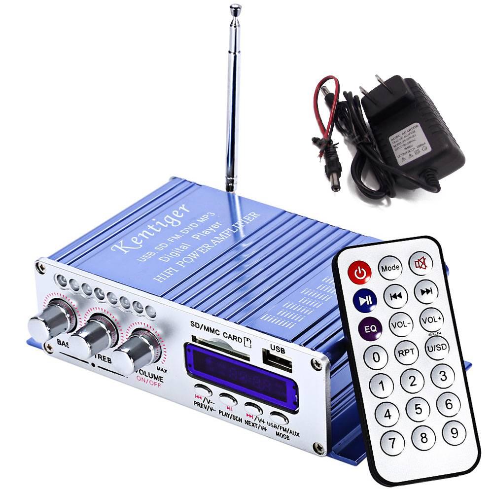 Myxl Motorfiets Usb Fm Audio Auto Stereo Versterker Radio Mp3 Speaker Led Hifi 2 Kanaals Digitale