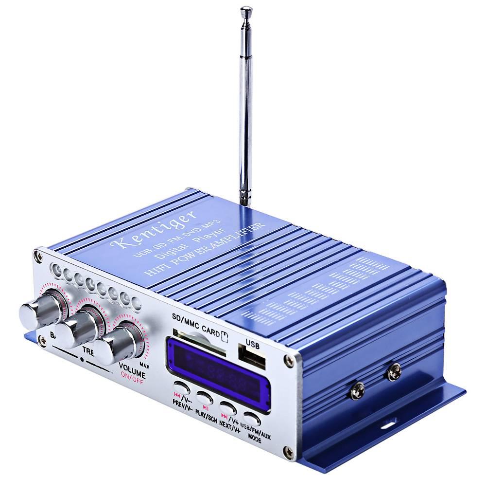 MP3 Speaker LED Hifi 2 Kanaals Digitale Display Power Speler Voor Auto Motorfiets USB FM Audio Auto