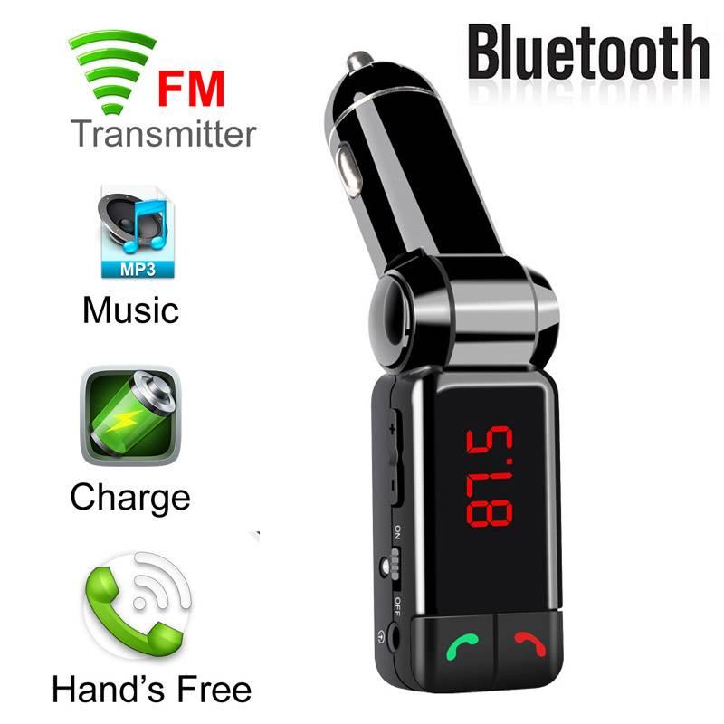 Fm-zender Auto MP3 Audio Speler Draadloze FM Modulator HandsFree Lcd-scherm USB Auto-oplader Voor Al