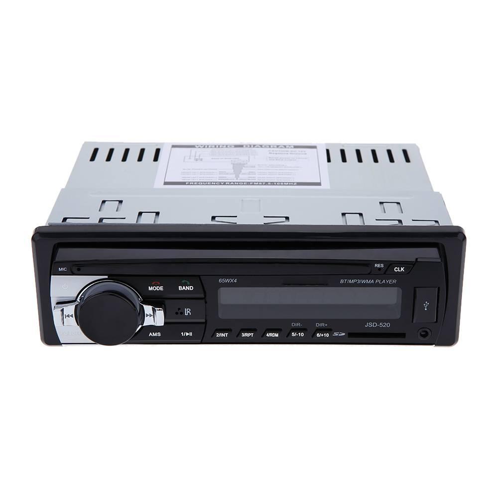 Auto Stereo Bluetooth Radio Audio Player Ontvanger In-Dash FM Aux Input WMA WAV Mp3-speler met SD-Us