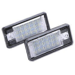 MyXL 2 STKS 18 LED Auto LED Kenteken Plaat Licht Lamp Automobiles Foutloos OBD Verlichting voor Audi A3 A4 A6 A8 B6 B7 S3 Q7 RS4 RS6