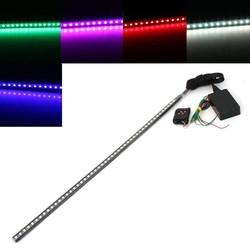 MyXL Waterdichte 12 V 7 Kleur 48 LED RGB Flash Light Auto Auto Strobe Knight Rider Kit Licht Strip met Draadloze Afstandsbediening Controller