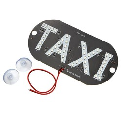 MyXL LED Auto Voorruit Cab Indicator Taxi Lamp Teken 45 LED Chips Blauw Voorruit Taxi Licht DC 12 V Auto-styling Auto Light bron