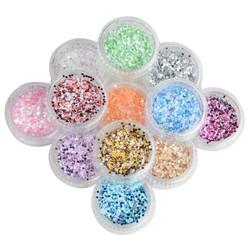 MyXL Glitters voor Nagels (12 Stuks)