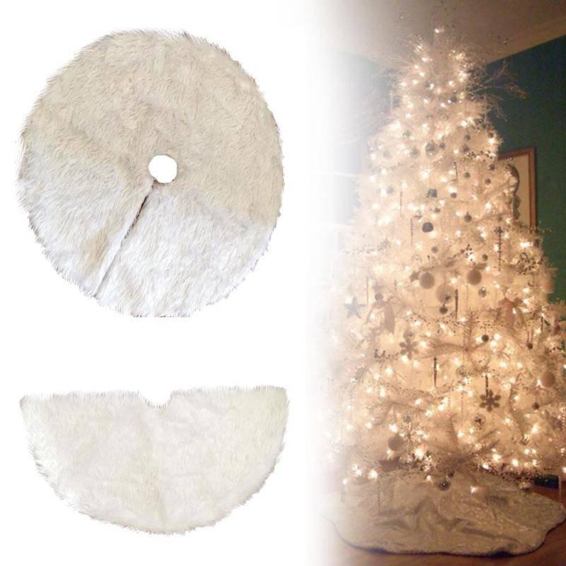 1 ST Creatieve Wit Pluche Kerstboom Rokken Bont Tapijt Xmas Decoratie Nieuwjaar Home Outdoor Decor E