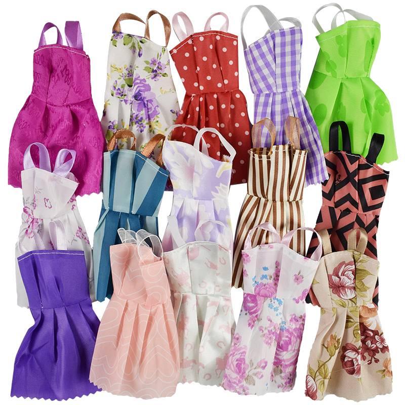 25 Stks Pop Accessoires = 10 Stks Mooie Barbie Doll Kleding + 10 Paar Schoenen 5 Pop Bag Voor Barbie
