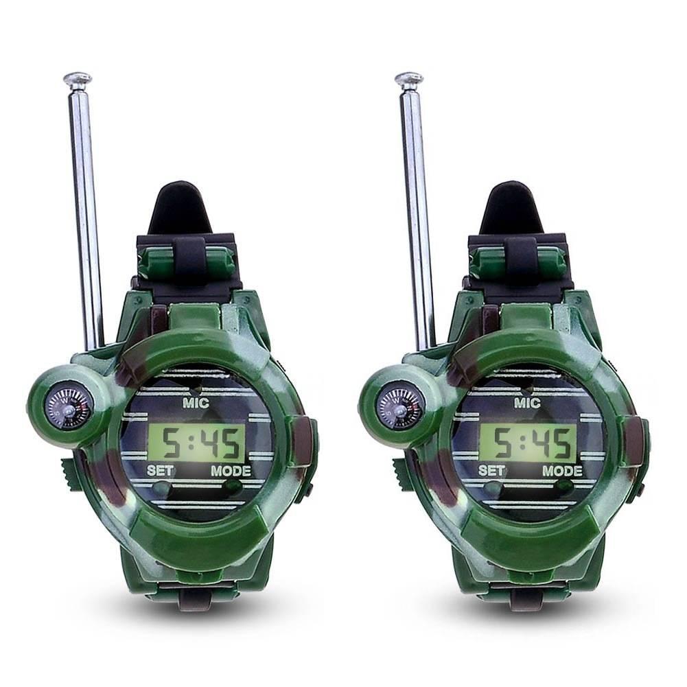 1 Paar LCD Radio 150 M Horloges Walkie Talkie 7 in 1 Kinderen Horloge Radio Outdoor Interphone Speel