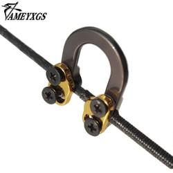 MyXL AMEYXGS Jacht Loop Metal D Ring Gesp Touw Invoer Aerospace Aluminium U Samengestelde Boogschieten pijl En Boog Schieten Onderdelen