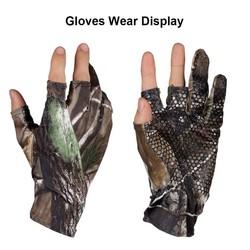 MyXL Outdoor Vingerloze Jacht Vissen Camo Gel Handschoen Camouflage Comfortabele Anti Slip Elastische Vissen Handschoenen Skidproof Antislip