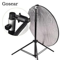 MyXL Gosear Aluminium Draagbare Foto Video Studio Fotografie Achtergrond Reflector Softbox Disc Houder Clip voor Light Stand 55x73mm