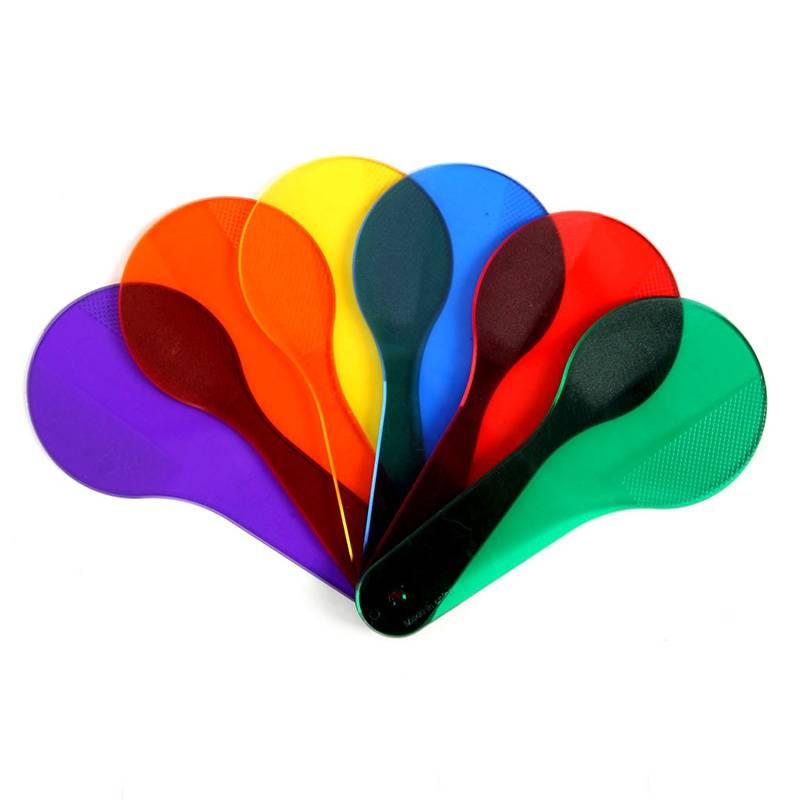 6 stks/partij zes kleur film learning kleur toys voor kinderen vroeg leren montessori onderwijs kleuterschool toys leren machine MyXL