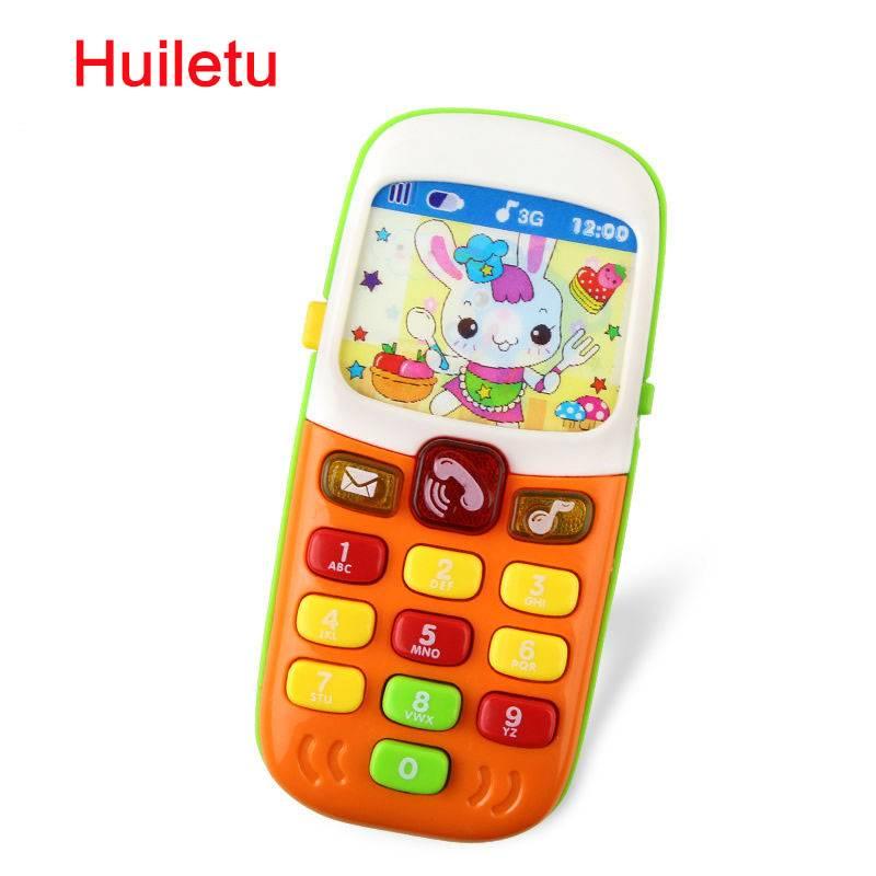 Kinderen Elektronische Mobiele Telefoon met Geluid Slimme Telefoon Speelgoed Mobiel Vroege Onderwijs