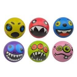 MyXL 1 STKS 6.3 cm Hand Pols Oefening PU Rubber Speelgoed Ballen Gezicht Print Spons Schuim Bal Squeeze Stressbal Relief speelgoed