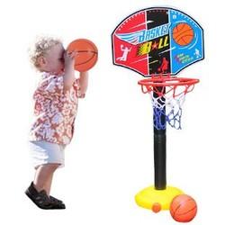 MyXL BOHS Kids Kinderen Miniatuur Basketbal Hoops Set Stands Adjujstable met Inflator Speelgoed voor Jongens, 115 cm, Outdoor Fun & Sport