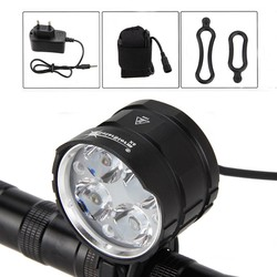 MyXL SolarStorm 8000LM 4x XML T6 LED Fiets front Light Fiets Led Lichten Zaklamp Handlamp + AC Charger
