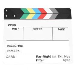 MyXL Generieke Acryl Kleurrijke Clapperboard TV Film Slate Cut Rollenspel Prop Hollywood