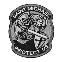 MyXL Cool Moderne Saint ST. Michael Beschermen Tactische VS Leger Moreel ACU Patch Badge Geborduurd Armband Gloed