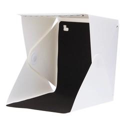 MyXL 30x30x30 cm Opvouwbare Portable Mini Fotostudio Doos Ingebouwde Licht Fotografieachtergrond Met Usb-voedingskabel voor smartphone