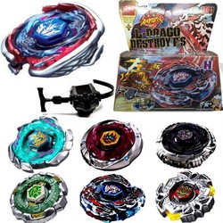 MyXL 1 Set Fusion Top Snelheid Strijd Metal Master Beyblade 4D Launcher Grip Set Collectie Tol Willekeurige