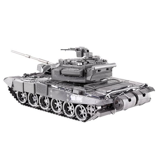 metal works diy 3d laser metalen modellen monteer miniatuur metal 3d model metallic nano T-90A mbt tank model puzzel MyXL