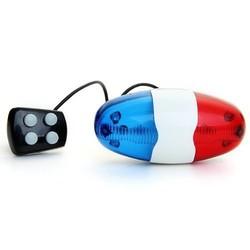 MyXL 6 LED 4 Geluiden Hoorn Bell Ring Politie Auto Licht Trompet Voor Fiets