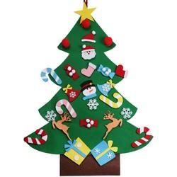 MyXL Ourwarm Kerstcadeaus voor 2018 Kids DIY Vilt Kerstboom met Ornamenten Nieuwjaar Decoratie Deur Muur Opknoping Decoratie