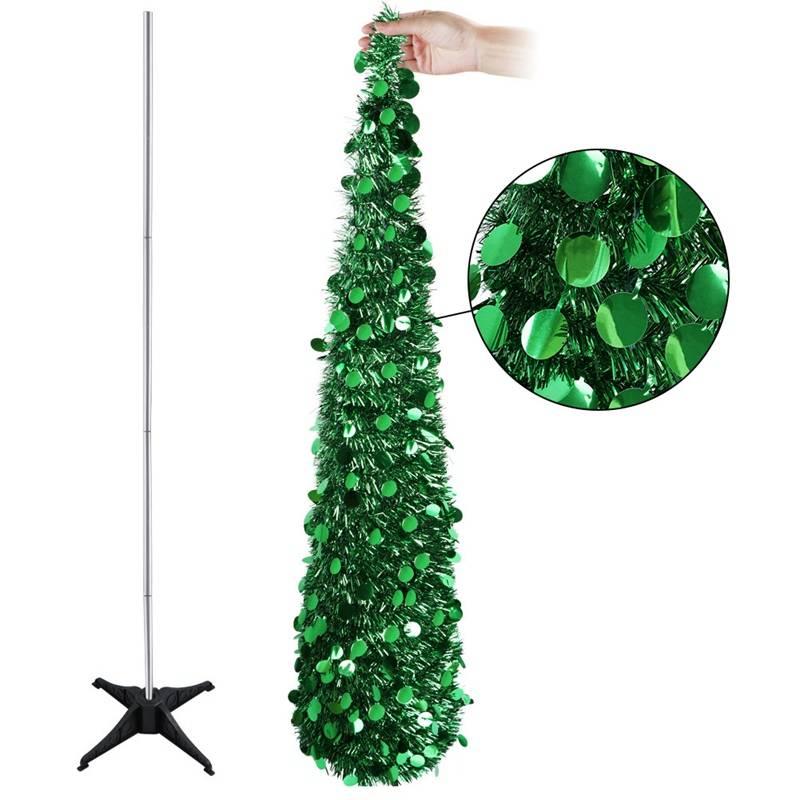 Aytai Bling Pailletten Kerstboom 150 cm Kunstmatige Klatergoud Pop Up Kerst Nieuwjaar Decoratie Kers