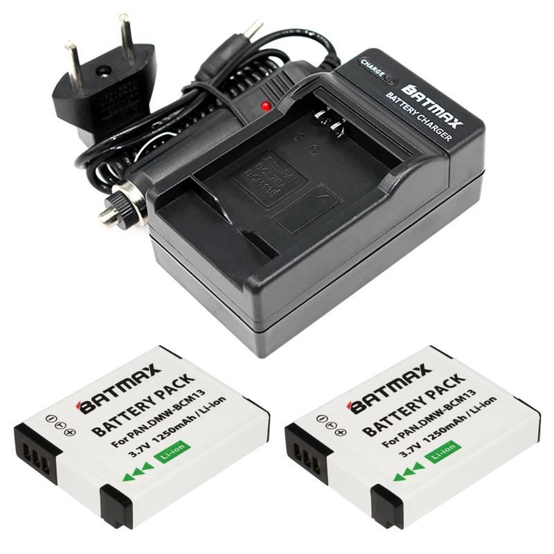 2X DMW-BCM13E DMW-BCM13 BCM13 + Oplader voor Panasonic Lumix ZS40-TZ60, ZS45-TZ57, ZS50-TZ70, ZS27-T