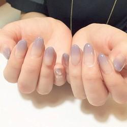 MyXL 24 stks sexy naakt paars kleurverloop Valse Nail Art met Lijm plain kleur Fake Nail Tip Afgewerkt manicure nail sticker<br />  SEENCON